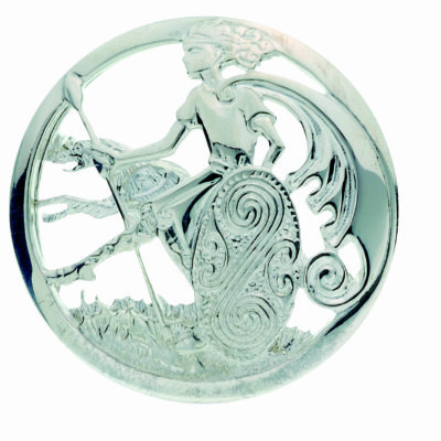 Silver Warrior Brooch
