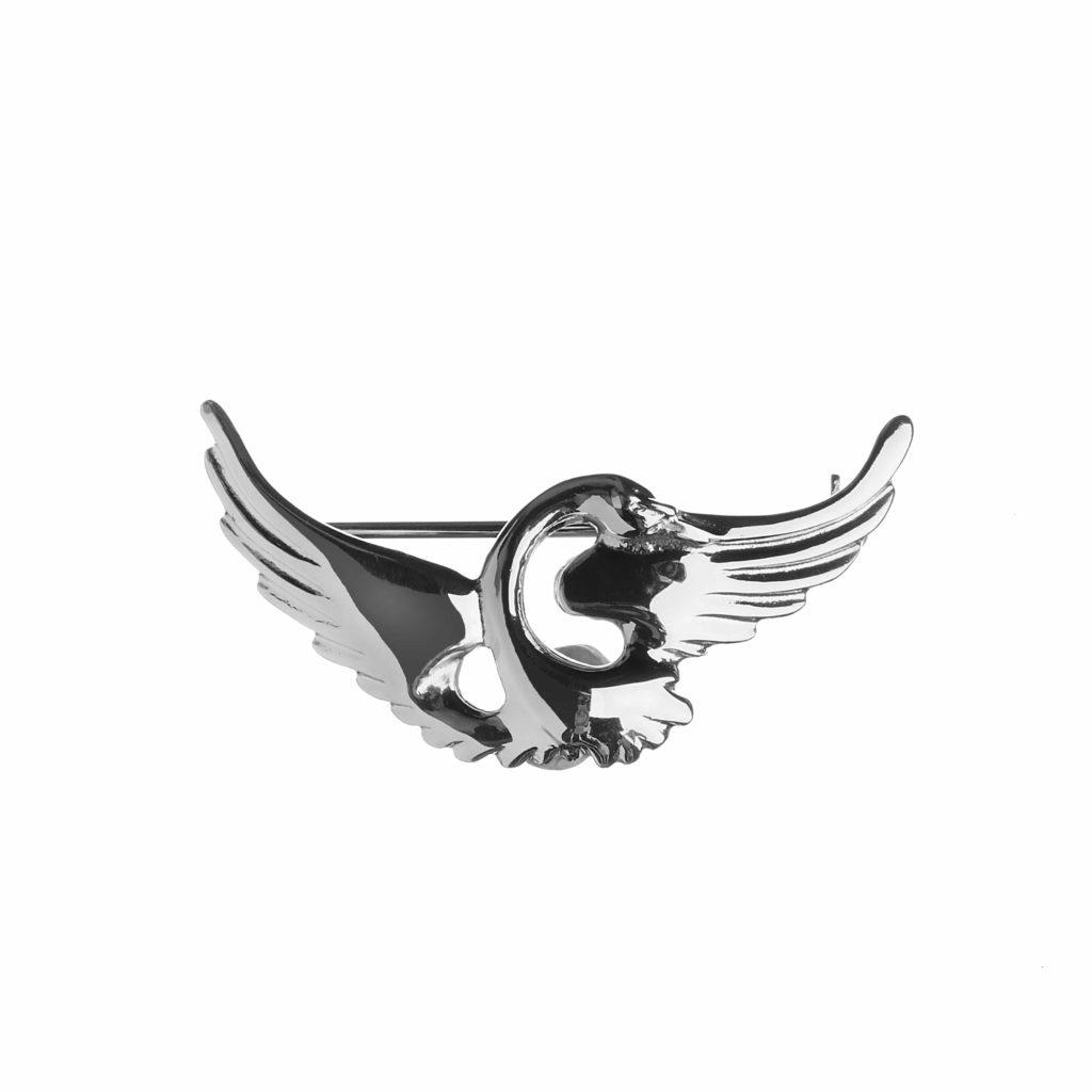 Single Swan Brooch