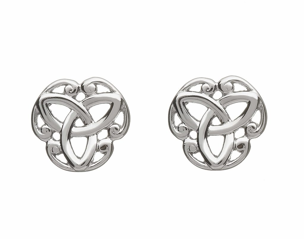 Trinity Knot Stud Earrings