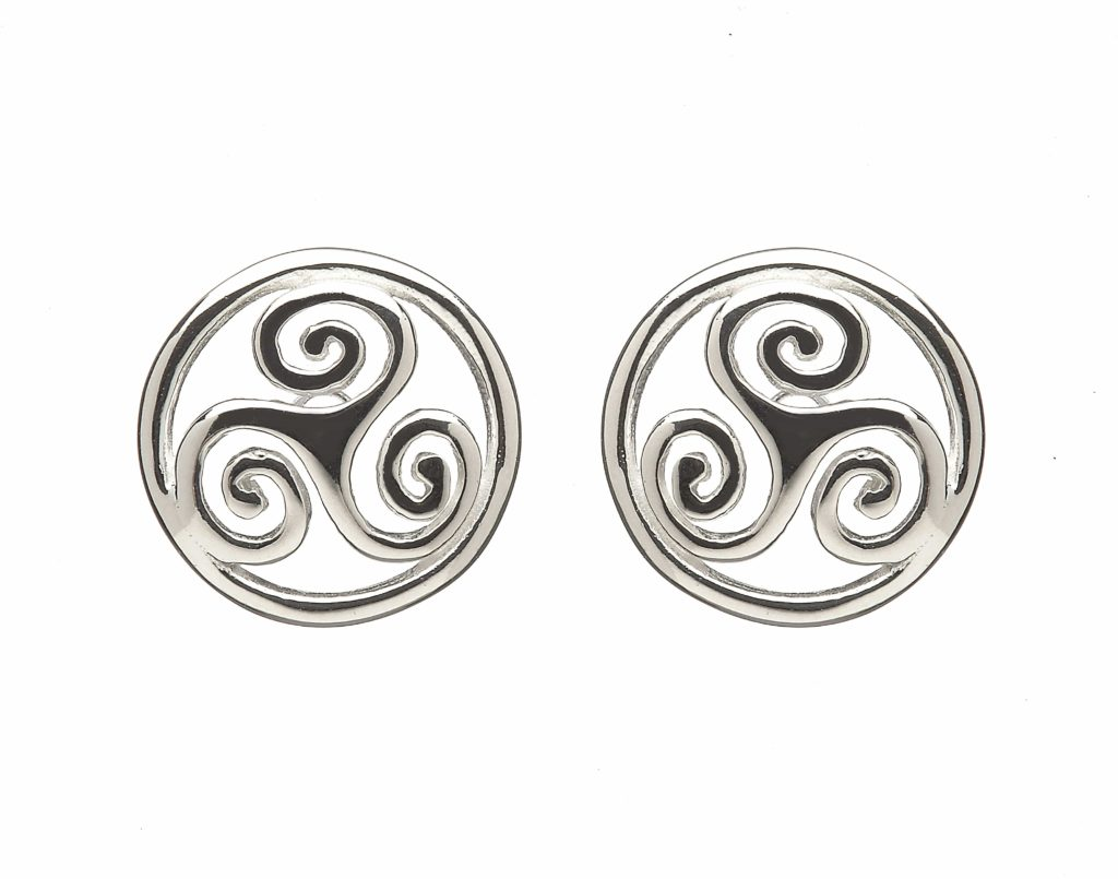 Celtic Spiral Drop Earrings