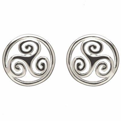 Celtic Spiral Drop Earrings