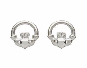 Claddagh Stud Earrings