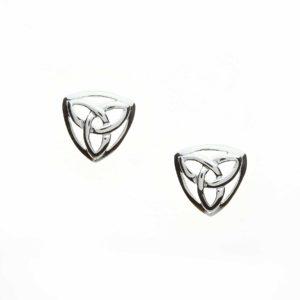 Trinity Knot Triangular Studs
