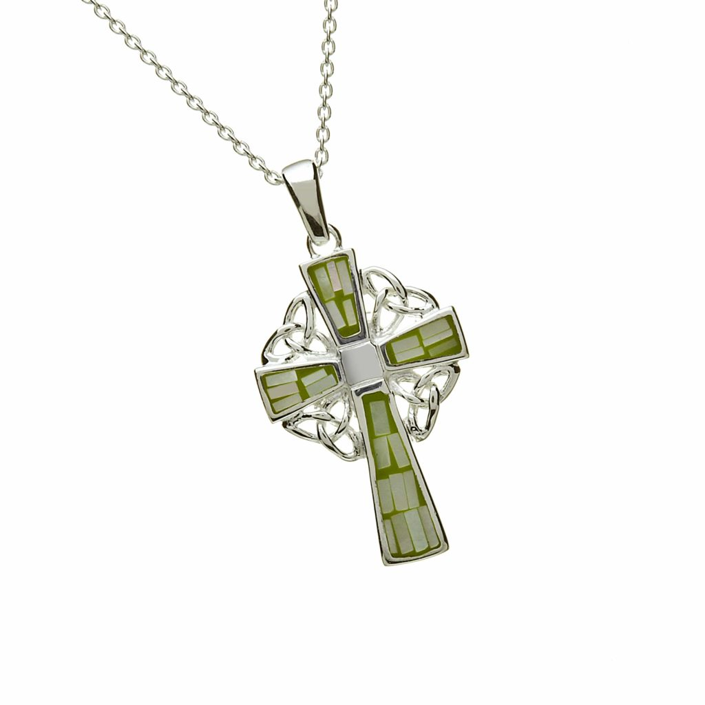 Green Mosaic Celtic Cross