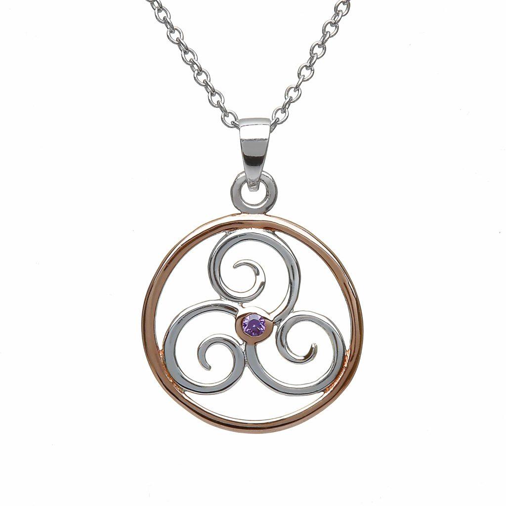 Trinity Spiral Circle Pendant
