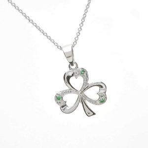 Open Shamrock & Green Cz
