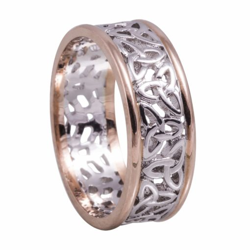 Ring with Golden White Centre and Heavy Rose Rims
