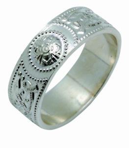 Arda Wide Shield Ring Ladies