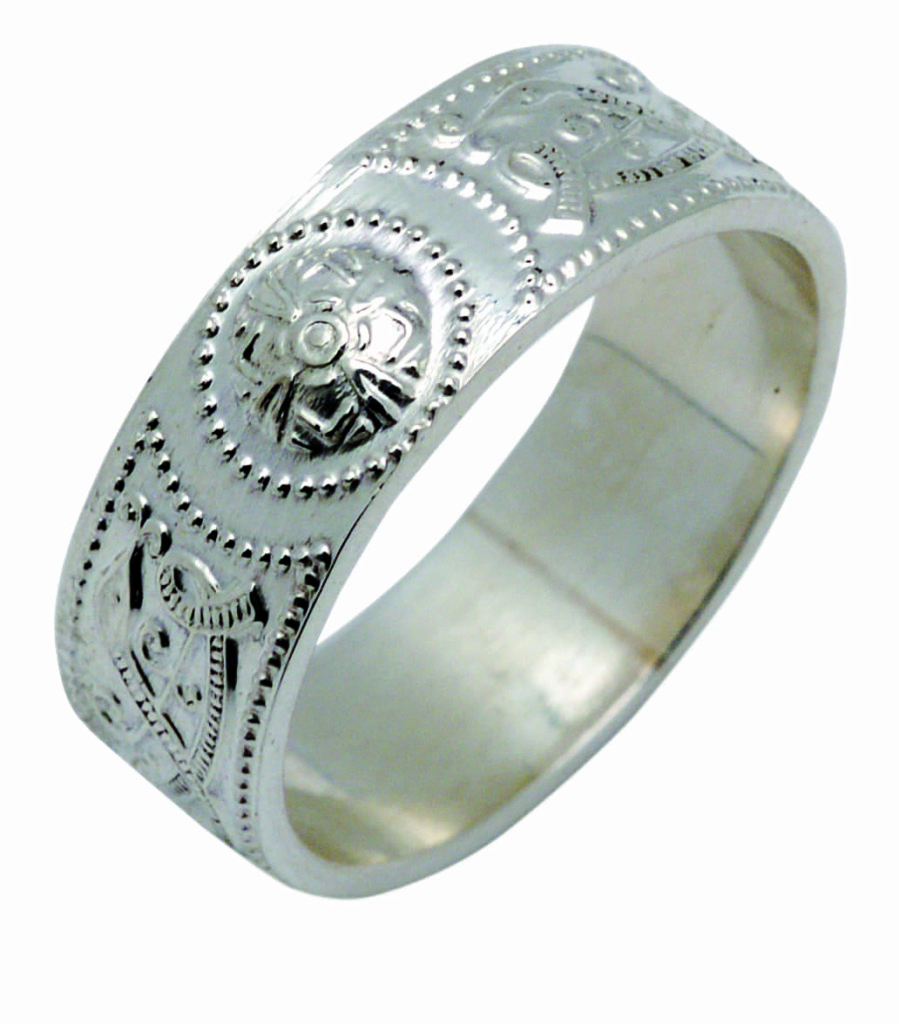 Arda Wide Shield Ring Ladies