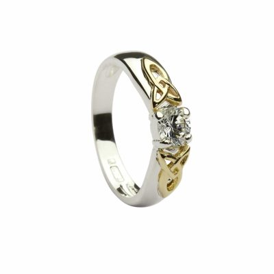Cz Solitare & 10Ct Gold Detail