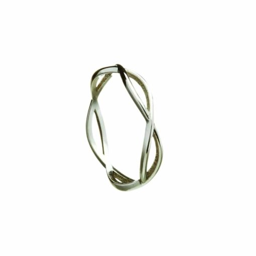 Celtic Weave Narrow Band Ring for Gents