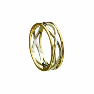 Celtic Weave Narrow Band Ring