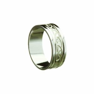 Celtic Knot Engraved Band, With Heavy Flat Rim Ring