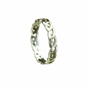 Celtic Knot Narrow Woven Band for Ladies
