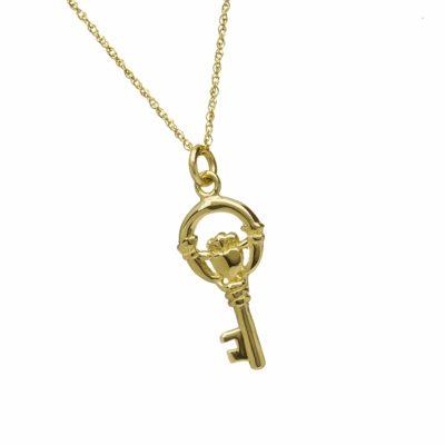 10Kt Claddagh Key Charm