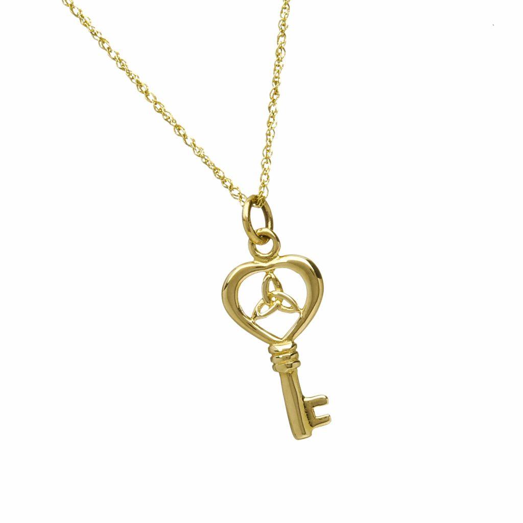 10Kt Trinity Knot Key Charm