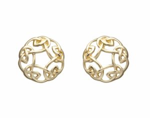 10Ct Gold Celtic Circle Earrings