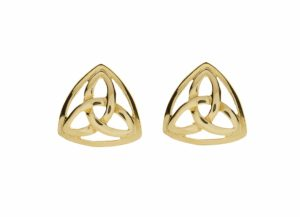 10Ct Gold Trinity Knot Earring 10Mx9M