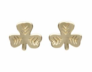 10Ct Shamrock Stud Earrings