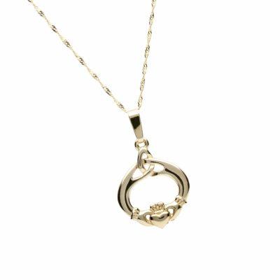 10Ct Claddagh & Trinity Knot