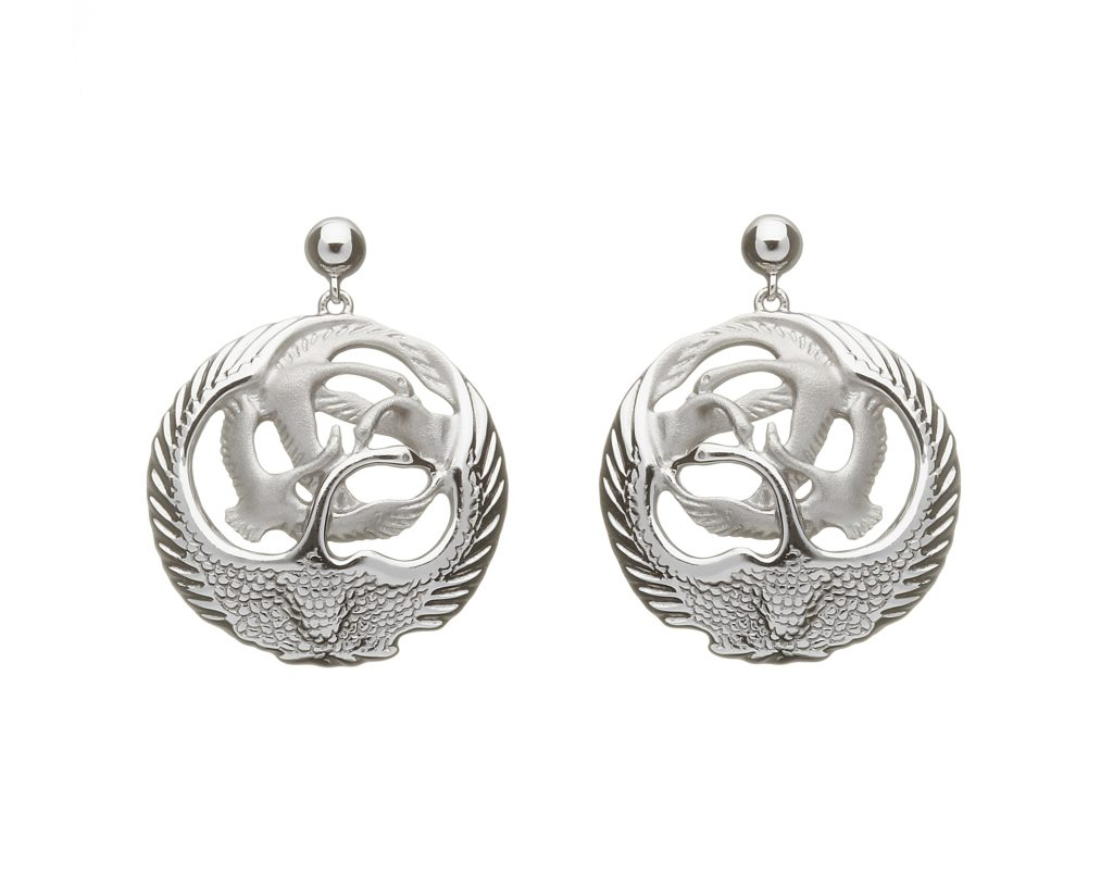 Silver Children of Lir Drop Earrings