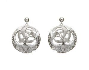 Silver Children of Lir Drop Earrings
