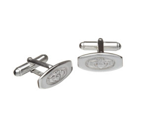 Sterling silver Claddagh design cufflinks