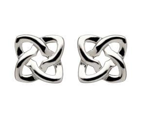 Sterling silver stud earrings Celtic design square