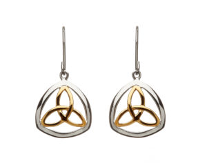 Sterling silver lever back earrings Trinity knot