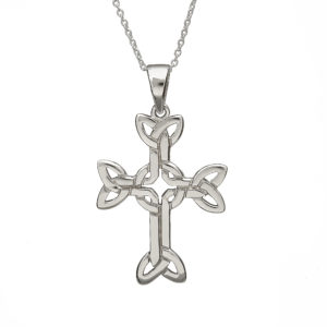 Sterling silver Trinity knot design cross