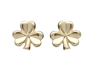 10ct Shamrock design earrings white