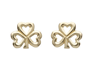 10ct gold Shamrock design earrings