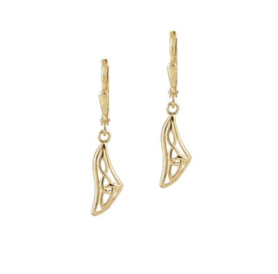10ct yellow gold Celtic design earrings