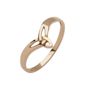 10ct rose gold petit Trinity knot design ring