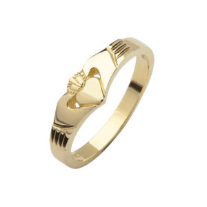 10ct yellow gold elegance Claddagh ring