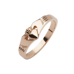 Rose gold elegance Claddagh design ring