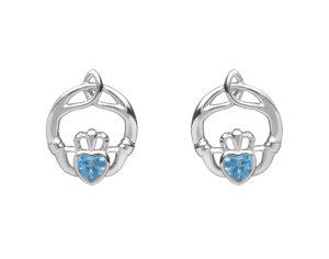 Sterling silver Children birthstone stud earrings