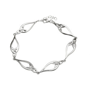 Silver celtic bracelet with six links