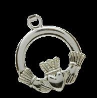 Silver Claddagh Charm