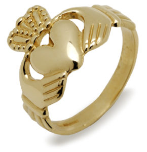 Gold Man Traditional Claddagh ring