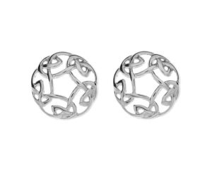 10CT White Gold Celtic Circle Earrings