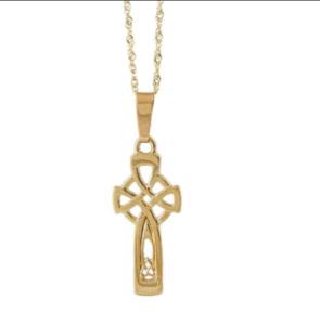 Gold Celtic Cross Pandent