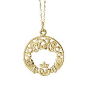 Claddagh round pendant