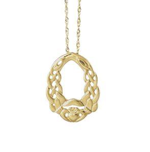 Gold Nua Claddagh pendant