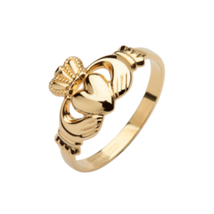 10CT Y/Gold Gents Classic Claddagh ring