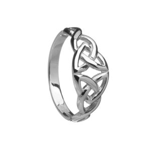 Silver Celtic Ladies Ring 10CT