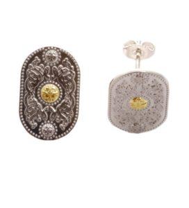 Arda Silver (20MM) Stud Earrings