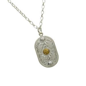 Silver Pendant and 14 karat boss chain