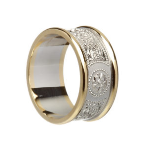 Silver wedding ring for Gents with heavy rims