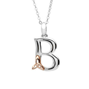 Silver celtic initial B pendant